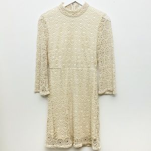 Cooperative Urban Outfitters beige eyelet dress 8